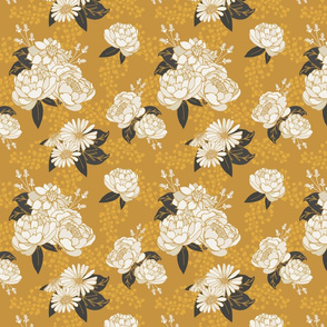 Gold Glam Floral Pattern