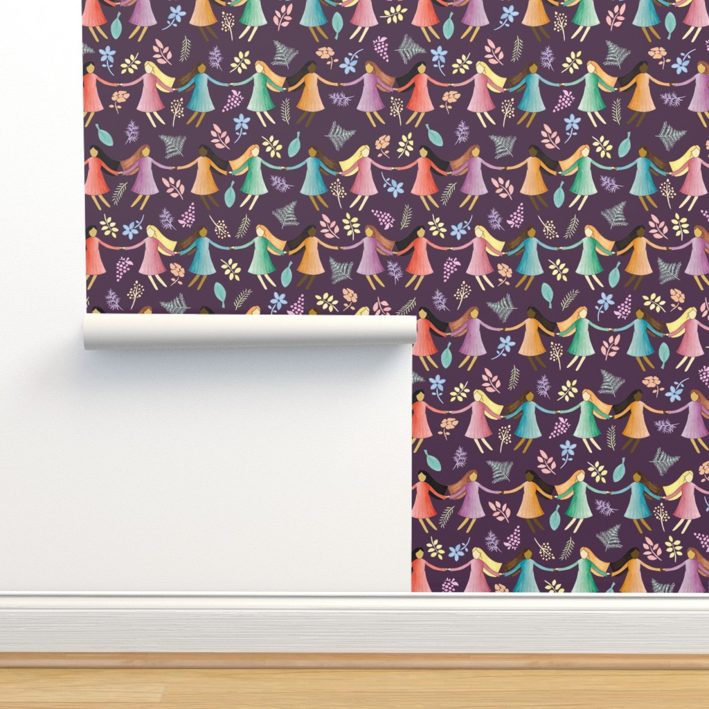 Isobar Durable Wallpaper featuring Sisterhood by emily_laughlin