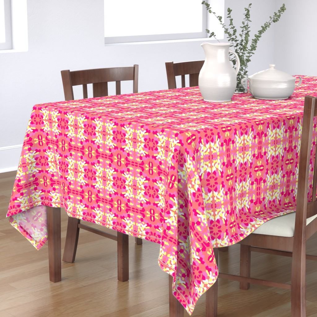 Bantam Rectangular Tablecloth featuring Maridadi 1 by tabasamu_design