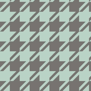 Houndstooth - Aqua, Dark Neutral