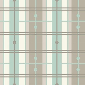 Plaid - Aqua, Ivory, Light
