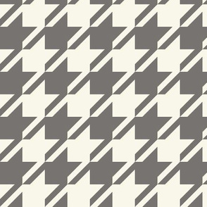 Houndstooth - Ash, Ivory