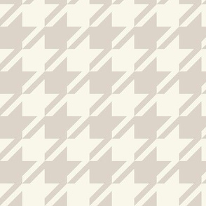 Houndstooth - Neutral, Ivory