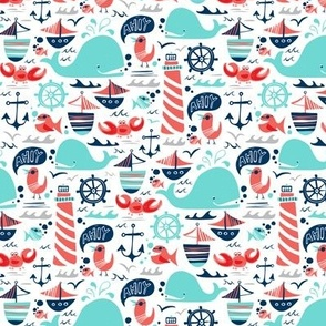 Ahoy Matey - Summer Nautical Smaller Scale