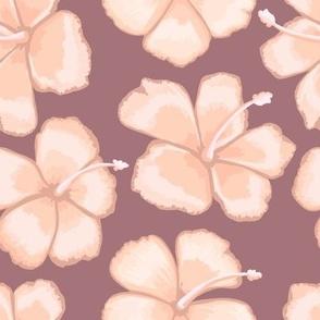 Hibiscus on plum