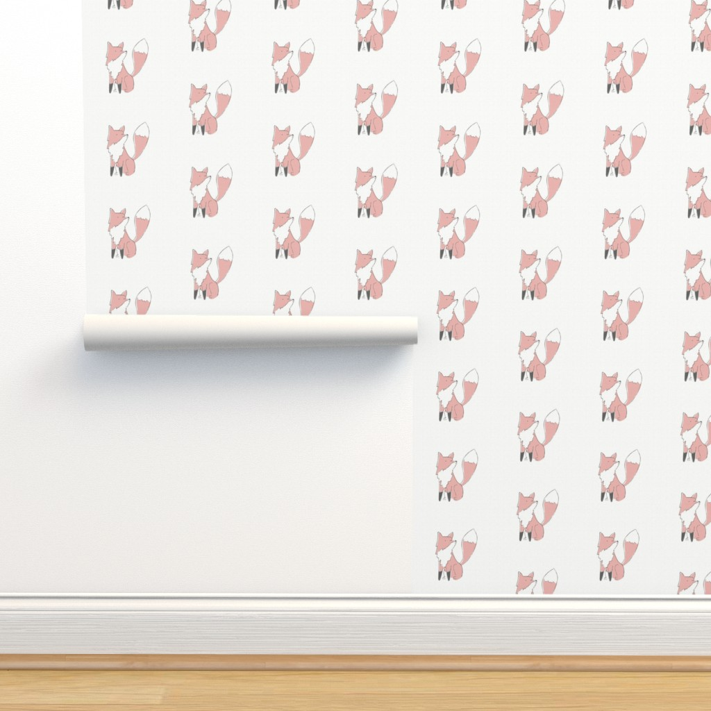 Isobar Durable Wallpaper featuring Fox - 6in square Quilt by papercanoefabricshop