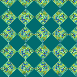 Paisley Cheater Quilt Squares