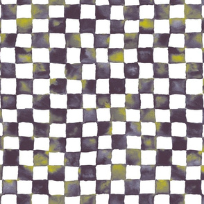 midsummer night's watercolor checkerboard