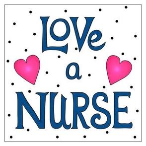 Love a Nurse 8 inch Block Dark Navy Blue