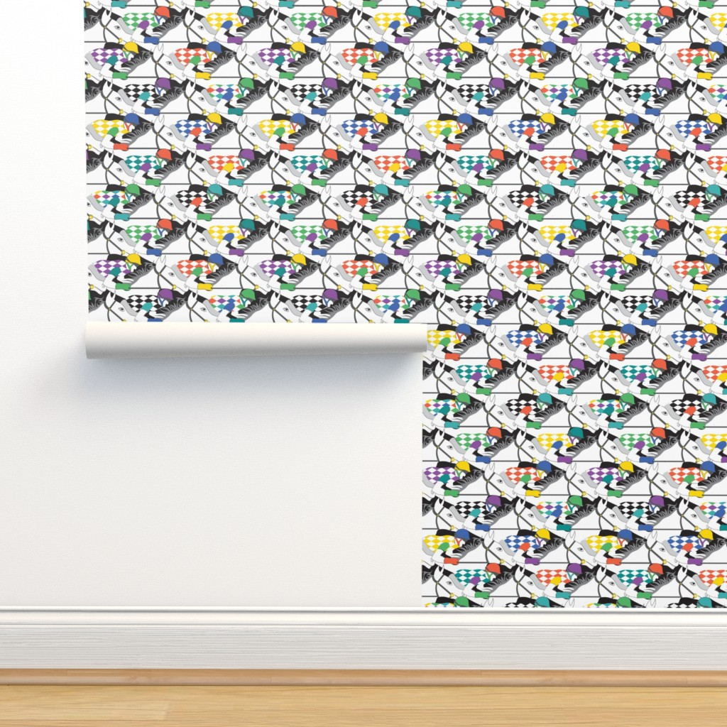 Isobar Durable Wallpaper featuring Horse Race white by colour_angel_by_kv