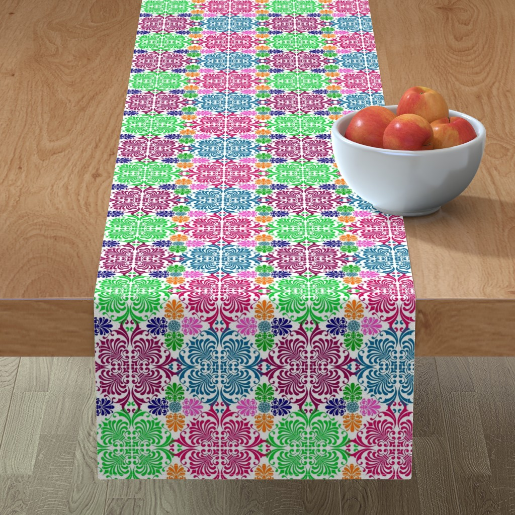 Minorca Table Runner featuring Latin Spring by sewingpatternbee