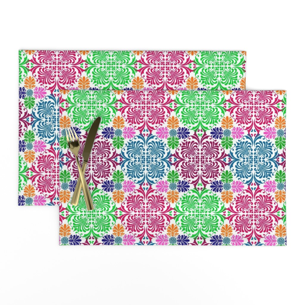 Lamona Cloth Placemats featuring Latin Spring by sewingpatternbee
