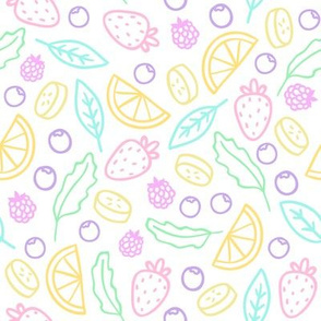 Cute fruits and berries