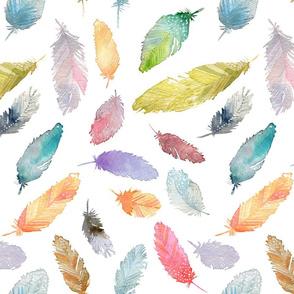Corfee-Watercolor Feathers
