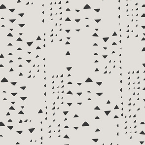 Mudcloth Triangles { grays }