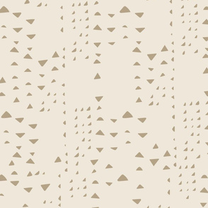 Mudcloth Triangles { greige }