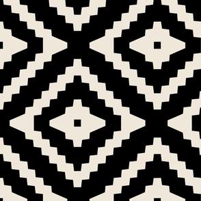 Boho Aztec Black & Tan