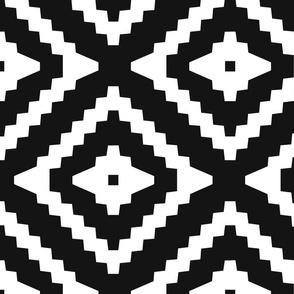 Boho Aztec Black & White