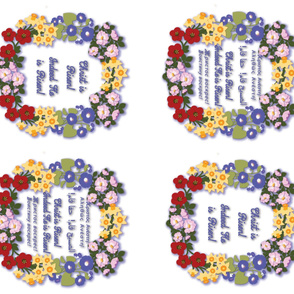 """Pascha Basket Cover """"Christ is Risen"""" for yard"""