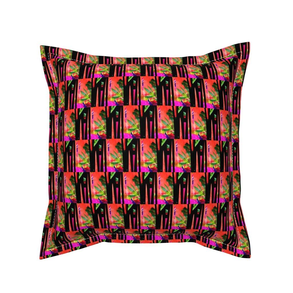 Serama Throw Pillow featuring Hatari 5 by tabasamu_design