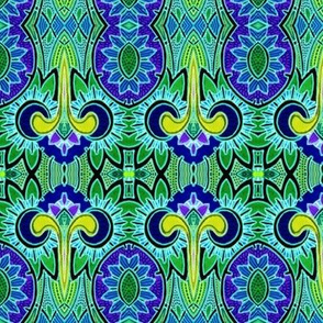 Nouveau Deco Daffodilly (blue/green)