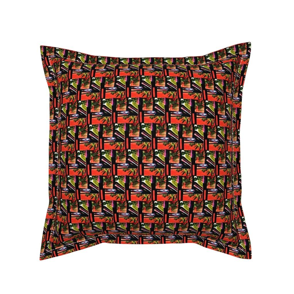 Serama Throw Pillow featuring Hatari 9  by tabasamu_design