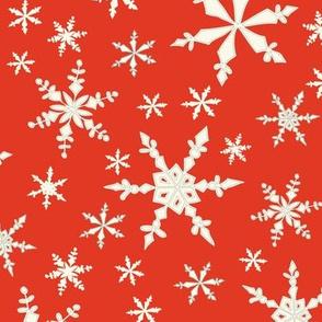 Snowflakes - Ivory, Cherry