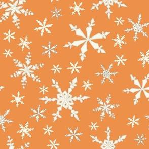 Snowflakes - Ivory, Orange