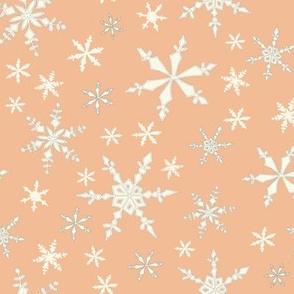 Snowflakes - Ivory, Peach