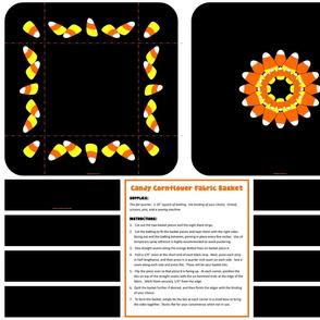 Candy Cornflower Fabric Basket