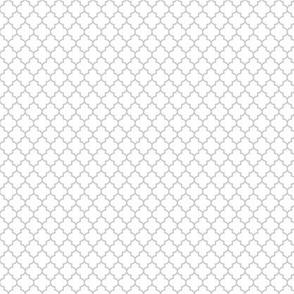 quatrefoil sterling grey on white - small