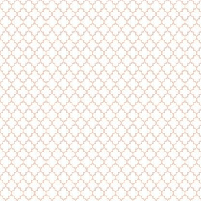 quatrefoil blush on white - small #F9CABA