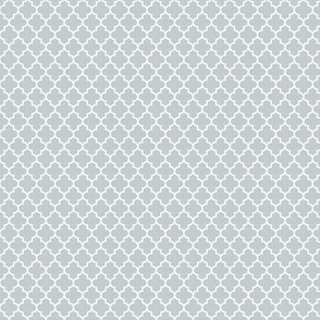 quatrefoil sterling grey - small