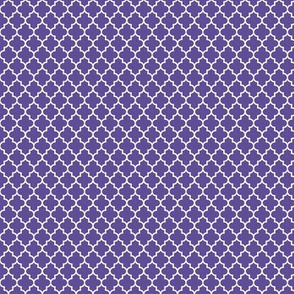 quatrefoil purple - small