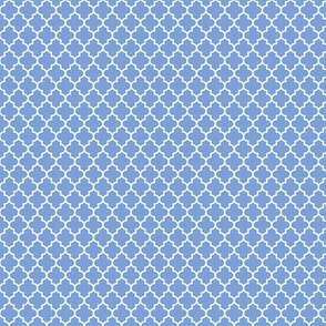 quatrefoil cornflower blue - small