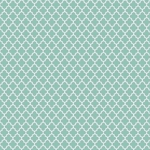 quatrefoil faded teal - small