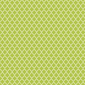 quatrefoil lime green - small