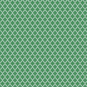 quatrefoil kelly green - small