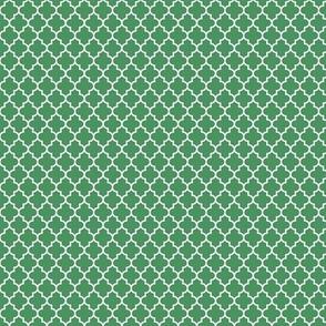 quatrefoil kelly green - small