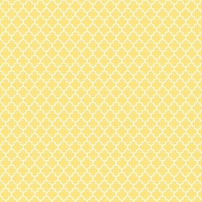 quatrefoil sunshine yellow - small