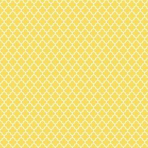 quatrefoil butter yellow - small