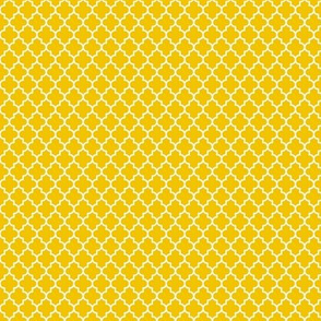 quatrefoil mustard yellow - small