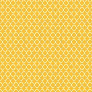 quatrefoil golden honey - small
