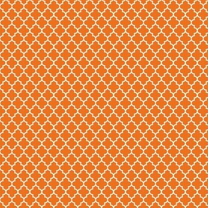 quatrefoil orange - small