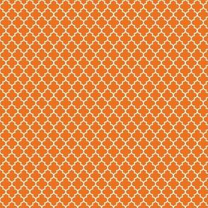 quatrefoil orange - small