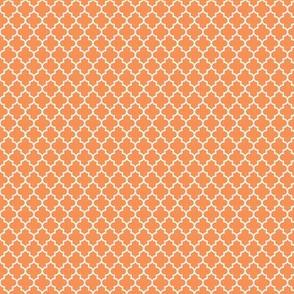 quatrefoil tangerine - small