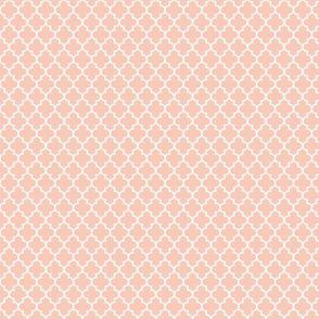 quatrefoil blush - small #F9CABA