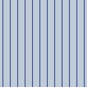 Navy Pinstripe on Blue Gray