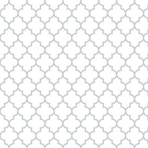 quatrefoil MED sterling grey on white