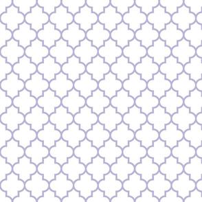 quatrefoil MED light purple on white